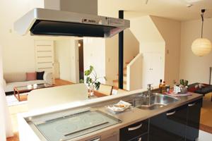二世帯住宅のキッチン